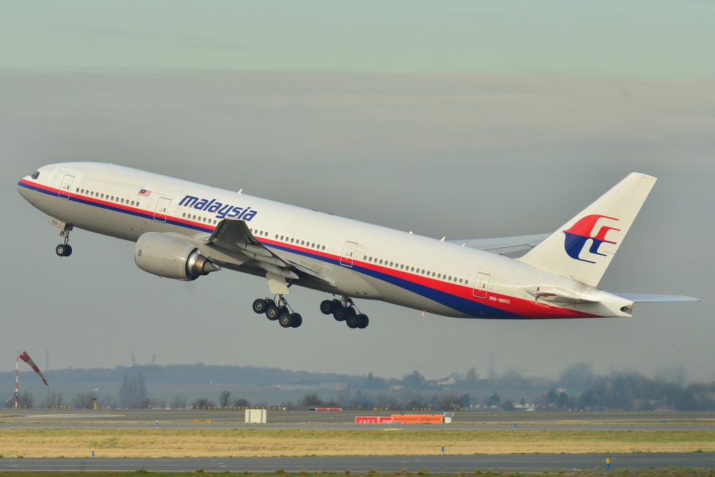 Malaysian Airlines Flight 370 airplane